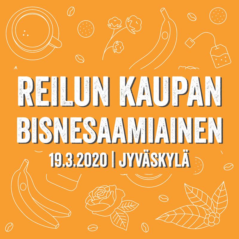 Reilun kaupan bisnesaamiainen Jyväskylässä 19.3.2020